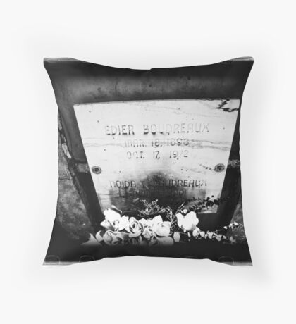 Old Biloxi Cemetery Boudreaux Throw Pillow