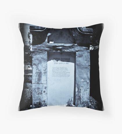 Old Biloxi Cemetery Seymour Crypt Throw Pillow