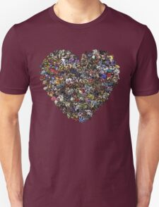 Monsters in our hearts! Unisex T-Shirt