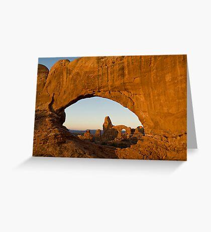 Turret through North Window Greeting Card