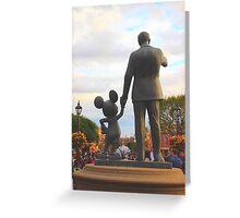 Mickey & Walt Greeting Card