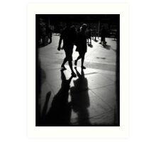 Shadows at Circular Quay Art Print