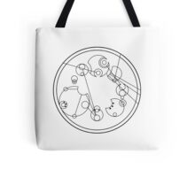 "Circular Gallifreyan: ""My other bag is bigger on the inside"" Tote Bag"