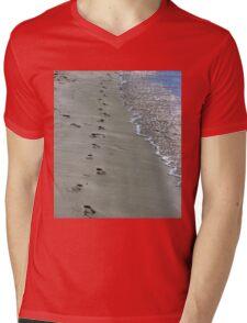 Footprints In The Sand - Jurien Bay - WA Mens V-Neck T-Shirt