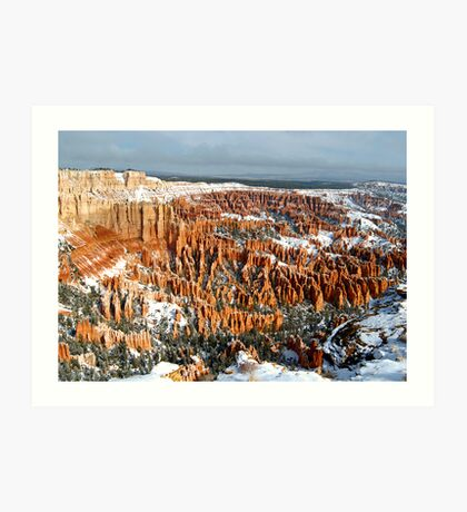 Snow on Bryce Amphitheater Art Print