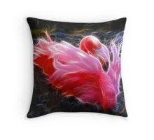 Flirty Flamingo Throw Pillow
