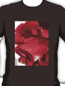 Red rose petals 2 T-Shirt