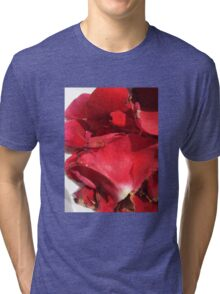 Red rose petals 2 Tri-blend T-Shirt