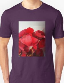 Red rose petals 3 Unisex T-Shirt