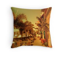 Dining In The Tropics Throw Pillow