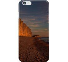 East Cliff Sunset Dorset iPhone Case/Skin