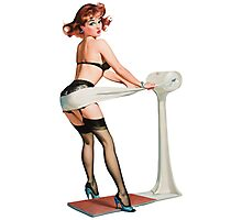 Pin-up Weight Problem Photographic Print