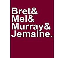 Bret & Mel & Murray & Jemaine Photographic Print