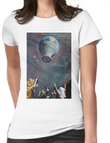 UP.UP.AND AWAY. Womens Fitted T-Shirt