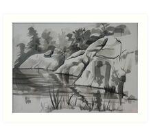 Quarry, Elephant Rocks State Park Art Print