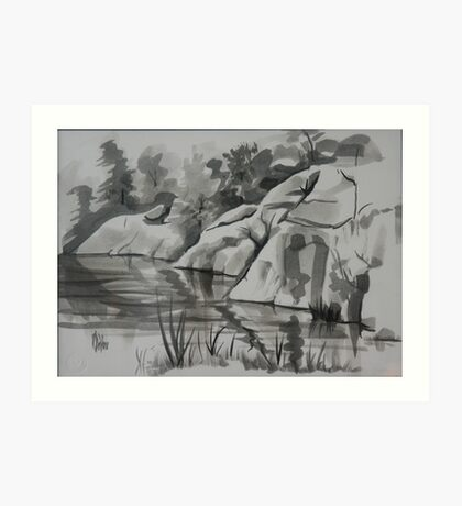 Quarry, Elephant Rocks State Park Art Print