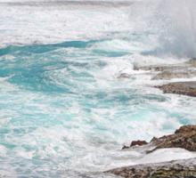 Rocks And Breaking Waves - West Point Rottnest Island WA Sticker