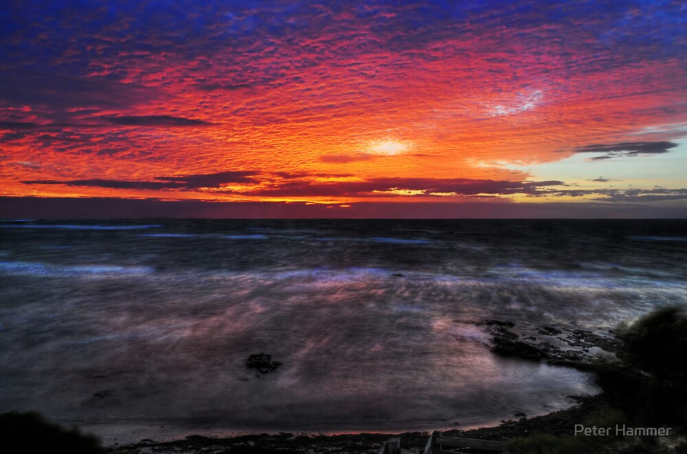Flaming sky by Peter Hammer