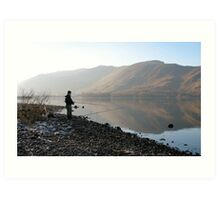 Fisherman - Derwentwater Art Print