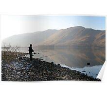 Fisherman - Derwentwater Poster