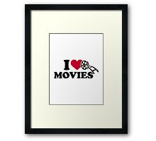I love Movies Framed Print