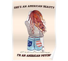 American Beauty/American Psycho Poster