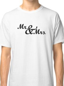 Mr & Mrs Wedding Classic T-Shirt