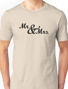 Mr & Mrs Wedding Unisex T-Shirt