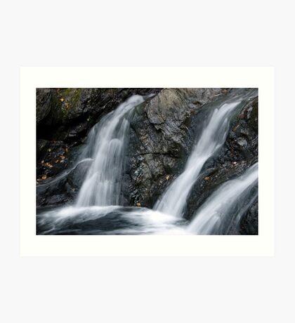 Foote Brook, Lower Falls, Autumn Art Print