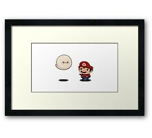 Boo and Mario Framed Print