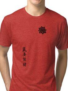 ARROW - Oliver Queen tattoos Tri-blend T-Shirt