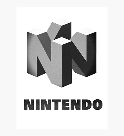 Classic Nintendo, B&W Photographic Print