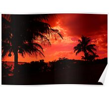 Sunset Red Poster