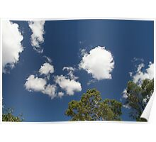 Floating Clouds Poster