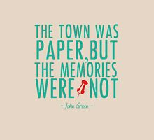 """Paper Towns - """"The Memories Were Not"""" Womens Fitted T-Shirt"""