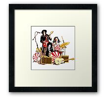 White Stripes Duo Framed Print