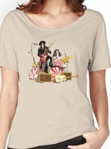 White Stripes Duo Women's Relaxed Fit T-Shirt