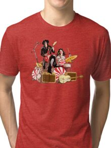 White Stripes Duo Tri-blend T-Shirt
