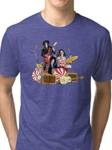 White Stripes Duo Tri-blend T-Shirt