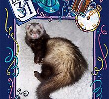 Happy New Year Ferret!! by Glenna Walker