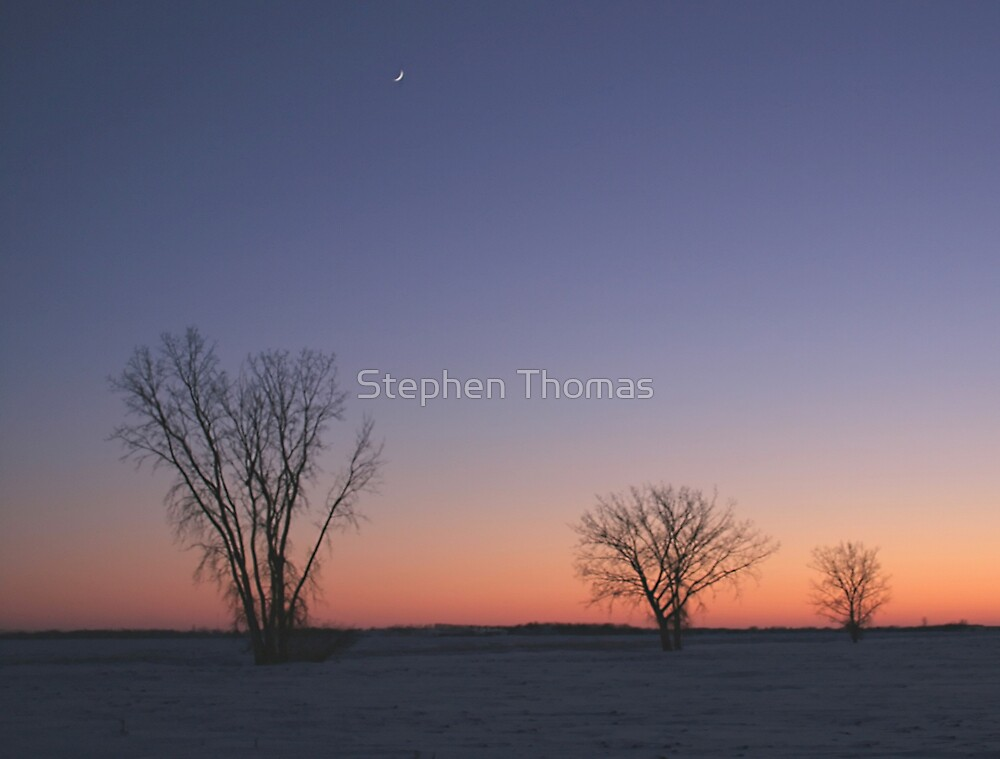 Prairie Winter Dusk! by Stephen Thomas