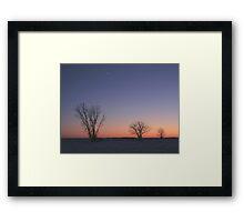 Prairie Winter Dusk! Framed Print