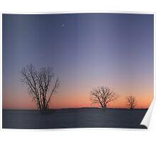 Prairie Winter Dusk! Poster