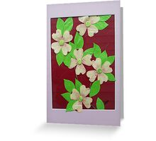 Dogwood Blossoms   11 x 14 Tissue Paper Artwork Greeting Card
