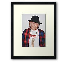 Neil Young for Supreme Media Cases, Pillows, and More. Framed Print