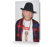 Neil Young for Supreme Media Cases, Pillows, and More. Greeting Card