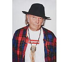 Neil Young for Supreme Media Cases, Pillows, and More. Photographic Print
