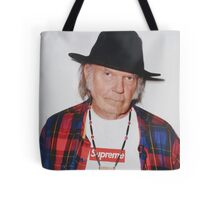Neil Young for Supreme Media Cases, Pillows, and More. Tote Bag