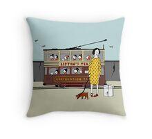 Old Tram Throw Pillow