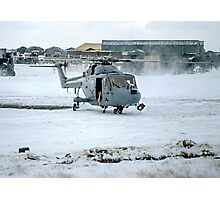 Westland Lynx HAS.2 XZ257/346 landing at RAF Stanley Photographic Print